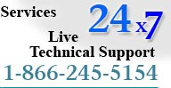 For LIVE Technical Support, call 1-866-245-5154